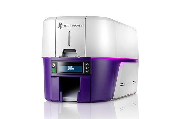 Impresora Entrust Datacard Sigma DS1 vista izquierda